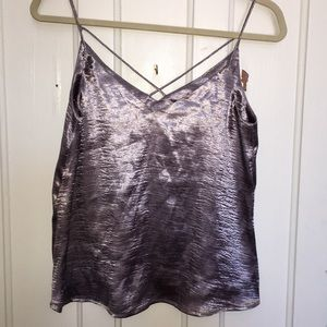 H&M Light purple/ Silver cami top. Size 8